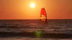 Windsurfing. Stock Footage