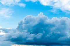 Dark Storm Clouds Before Rain. - stock photo