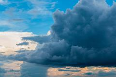 Dark Storm Clouds Before Rain. Stock Photos