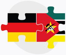 Germany and Mozambique Flags Stock Illustration