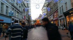 Birmingham New Street Christmas - stock footage