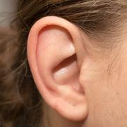 the human ear - stock photo