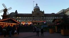 Stock Video Footage of Birmingham  German Christmas Market & Craft Fair