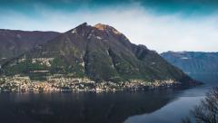 Morning on Lake Como (Timelapse) - stock footage