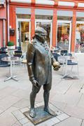 Georg Christoph Lichtenberg's monument at the marketplace in Goettingen - stock photo