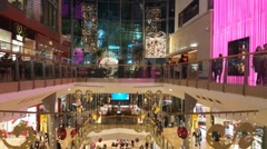 Christmas Decorations In The Shopping Mall Bullring Birmingham Uk Stock Footage