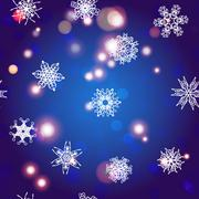 Snowflake Pattern. Christmas and new year concept - stock illustration