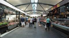 COPENHAGEN, DENMARK: Torvehallerne Market Stock Footage