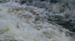 Mountain river rapids close up Stock Footage