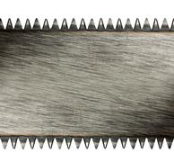 Scratched saw blade - stock photo