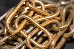 Stock Photo of old rusty chain as a background