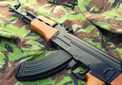 Assault rifle AK-47 Stock Photos