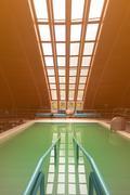 Thermal swimming pool. - stock photo