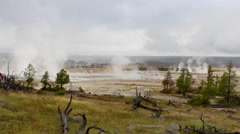 Time lapse, Lower Geyser basin in Yellowstone National Park Stock Footage