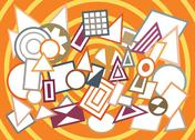 Stock Illustration of Abstract geometric shapes background
