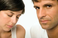 Unhappy couple - stock photo