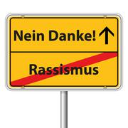 Illustration Vector Graphic Road Sign Racism - stock illustration
