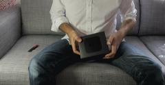 New Apple TV unboxing Stock Footage