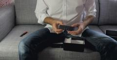 New Apple TV Siri Remote unboxing Stock Footage