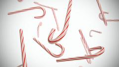 Candy Cane Loop Stock Footage