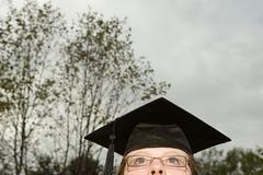 Female graduate - stock photo