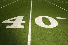 Forty yard line - stock photo