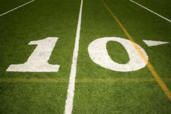 Stock Photo of Ten yard line