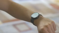 4K Smartwatch Health Monitor Application Pulse - stock footage