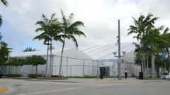 Art Basel tents Midtown Miami 2 Stock Footage