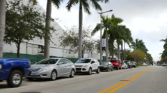 Art Basel tents Midtown Miami Stock Footage
