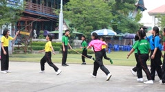 Stock Video Footage of sport activity,  Jump rope squad