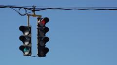 Traffic Light Part Stock Footage