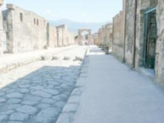Defocused background of Archaeological ruins in Pompeii - stock photo