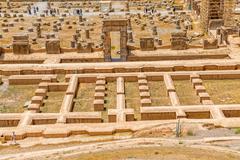 Persepolis restoration site Stock Photos