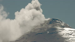 Stock Video Footage of Cotopaxi Volcano Powerful Eruption