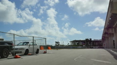 Future site of Miami Resorts World Stock Footage