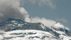 Cotopaxi Volcano Crater During Eruption Stock Footage