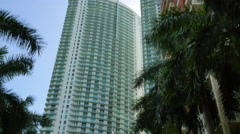 Highrise condos modern architecure Stock Footage