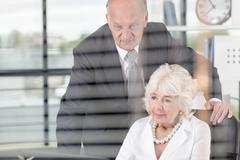 Elderly business people - stock photo
