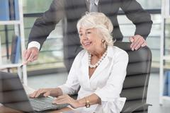 Female director in office - stock photo