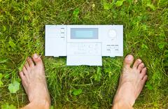 Control panel of the Nature - stock photo