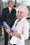 Happy senior businesswoman - stock photo