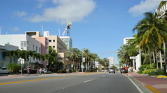 Iconic Miami Beach hotels Stock Footage
