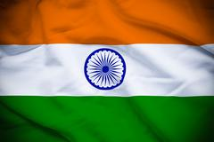 India Flag Stock Illustration