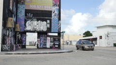 Landmark design district Miami Stock Footage