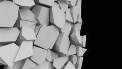 Broken wall. Seamless loop Stock Footage