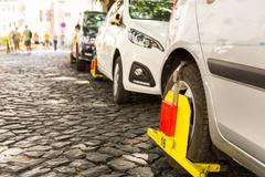 Parking violation - stock photo