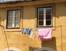 Clothing drying Stock Photos
