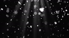 Snow Flakes Rays 3 Stock Footage