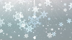 Elegant Snow Flakes 2 Stock Footage